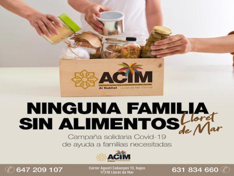 L'associació ACIM de Lloret promou la campanya 'Cap família sense aliments'