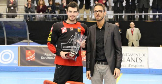 El lloretenc Carles Grau, escollit MVP de la Copa del Rei d'hoquei patins