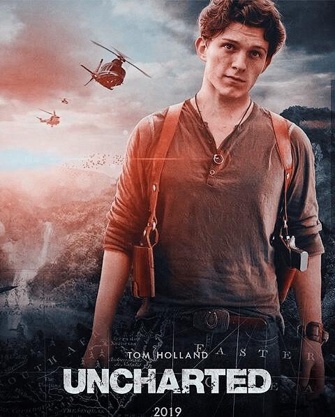 Cartell de la pellicula Uncharted amb Tom Holland