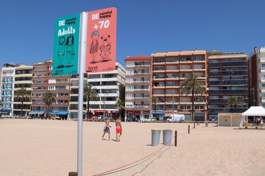 Divisio a les platges de Lloret aquest estiu del 2020 gerio cat