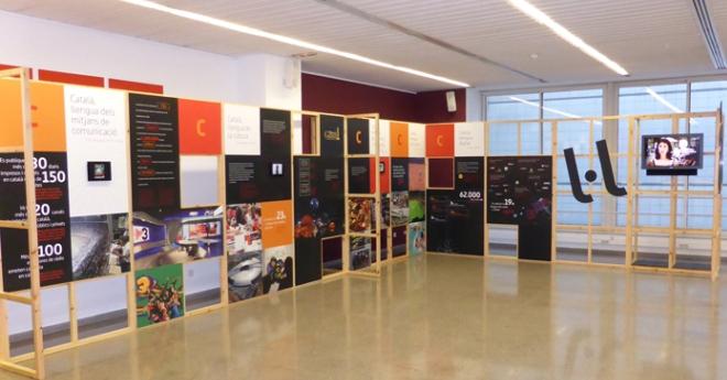 Una exposició explica l'ús del català en el panorama europeu actual