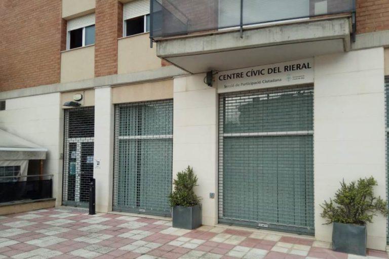 Els centres cívics de Lloret deixen de fer activitat presencial durant 15 dies