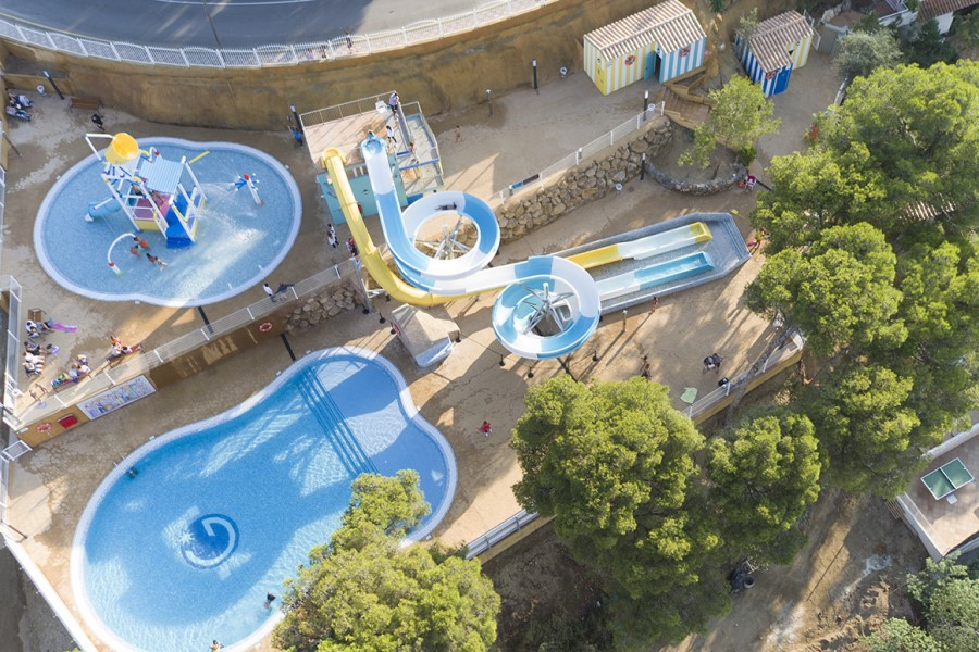 Vista aèria del Guitart Central Park Aqua Resort (Guitart Hotels)