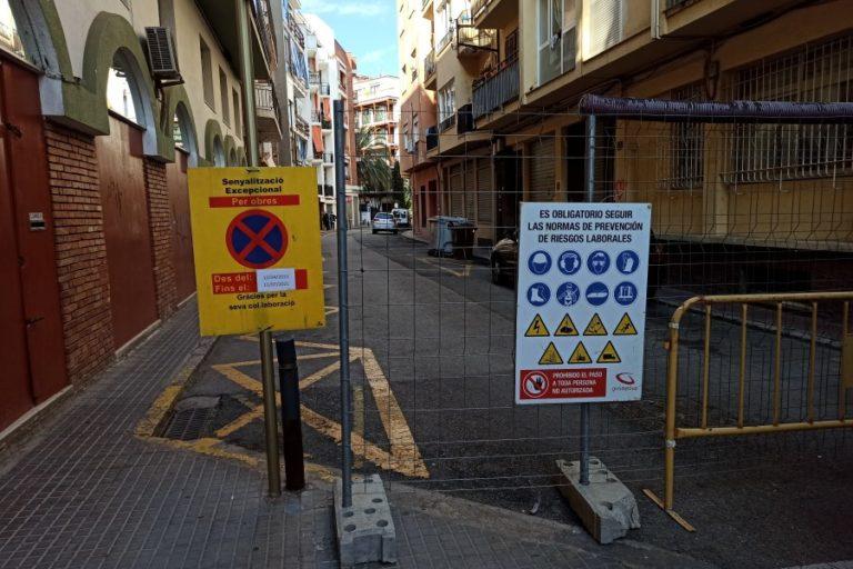 Comencen les obres de millora al carrer Camí de les Cabres