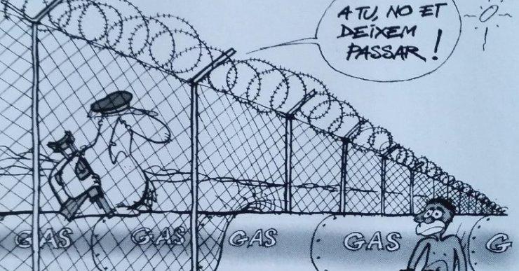 Les vinyetes d'en JAP crítiques amb la situació dels refugiats arriben a Lloret de Mar