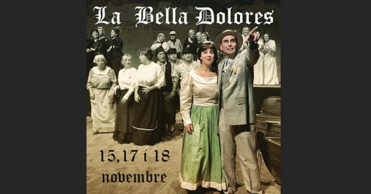 El centenar de persones que participen a La Bella Dolores ja estan a punt per l'estrena