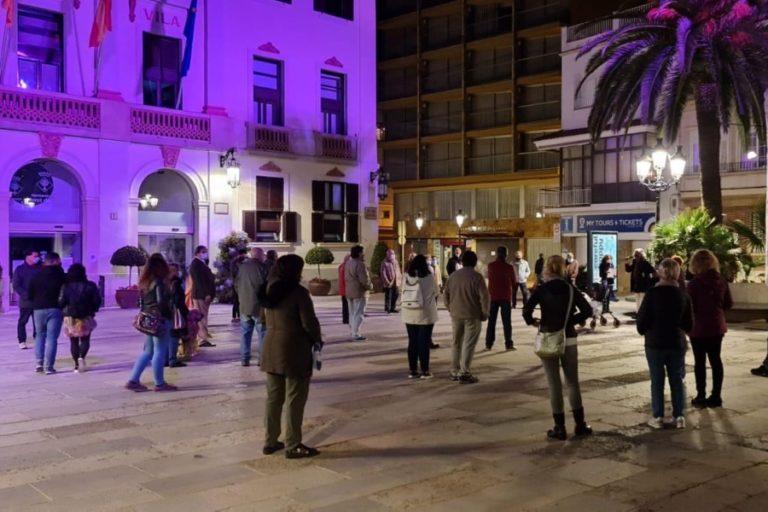 Concentració de rebuig a Lloret per les detencions de la Guàrdia Civil