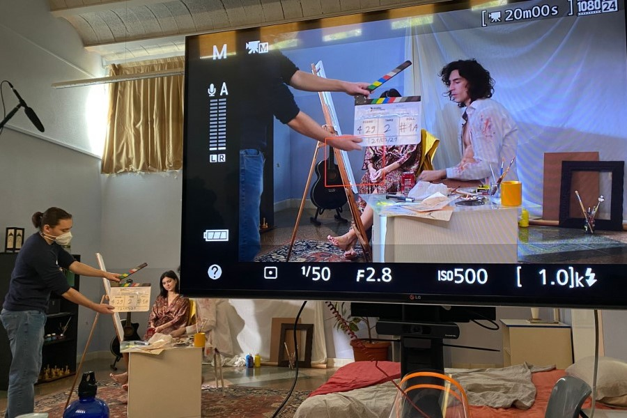 Rodant una escena amb Andy i Molly de joves (Meraki Films Productions)
