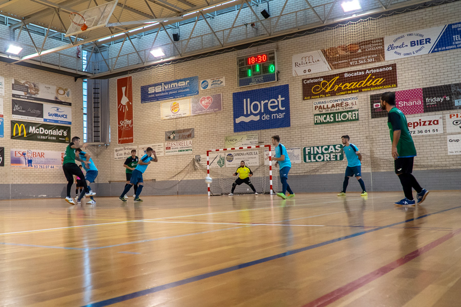 Partit de futbol sala entre el Lloret i el Riudellots