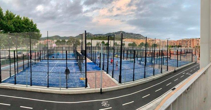 Les noves pistes de tennis i pàdel complementen l'oferta esportiva de Lloret de Mar