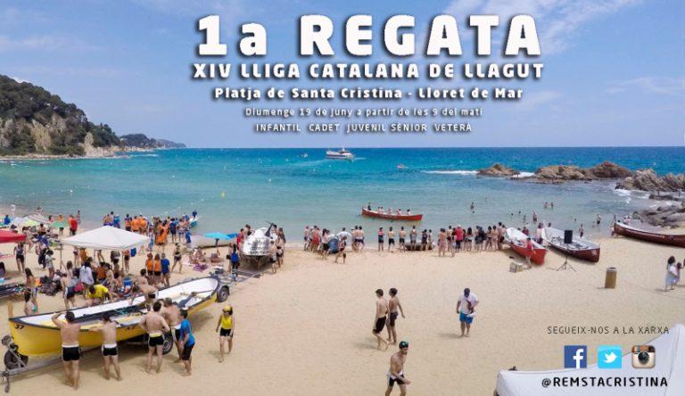 Aquest diumenge comença la Lliga Catalana de Llaguts a la platja de Santa Cristina