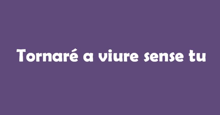 'Tornaré a viure sense tu' és l'eslògan d'aquest any per al Dia per l'Eliminació de la Violència Envers les Dones