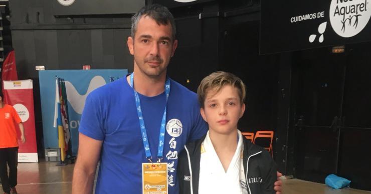 Vasilii Leiseitsev es queda a tocar de la medalla de bronze al Campionat d'Espanya de Judo escolar