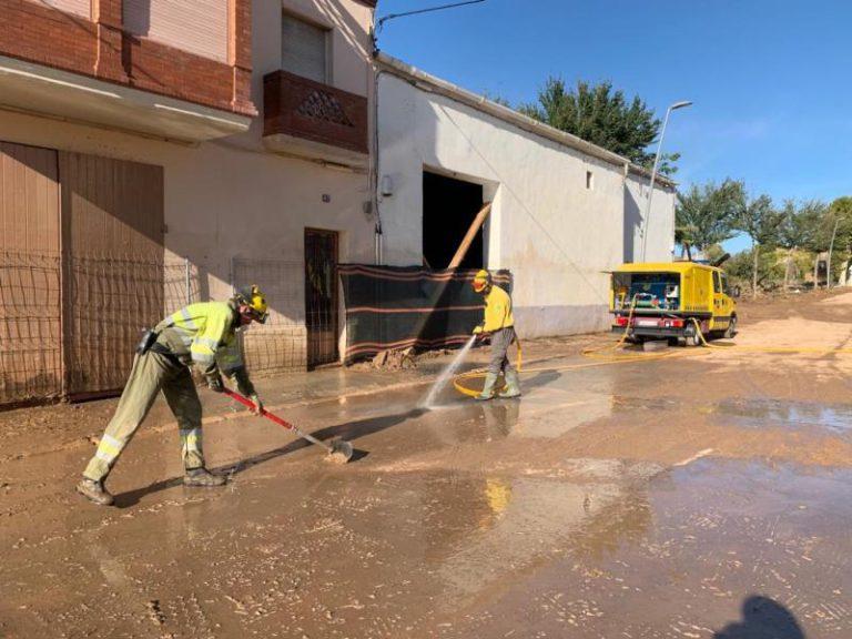 L'ADF de Lloret de Mar es desplaça a l'Espluga de Francolí per ajudar els damnificats del temporal