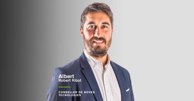 Albert Robert és el nou conseller de Noves Tecnologies al Consell Comarcal de la Selva