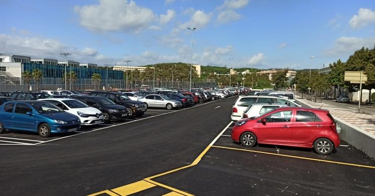 Finalitzades les obres de l'aparcament de la zona esportiva