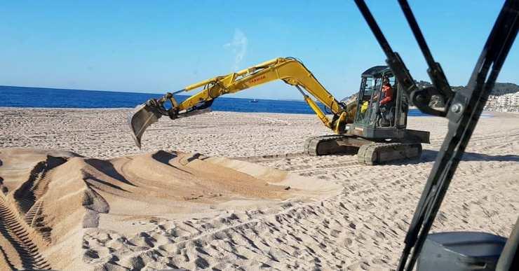 La situació de la platja de Lloret és la normal per l'època de l'any en què estem
