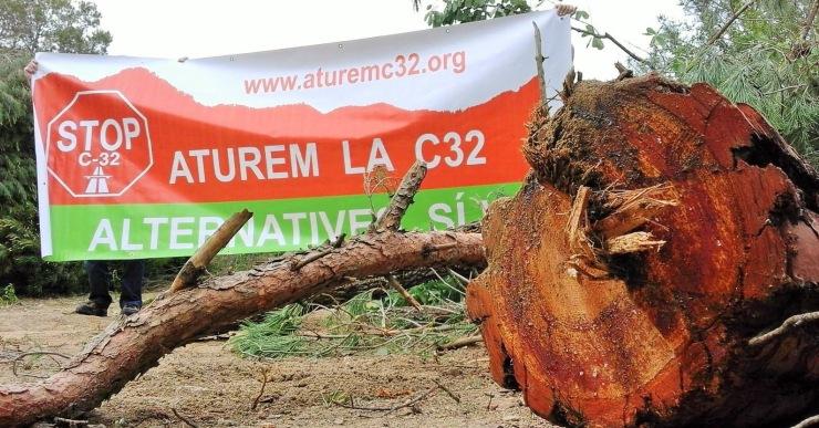 Lloret En Comú denuncia la tala d'arbres que s'està fent abans que s'executin les obres de la C-32
