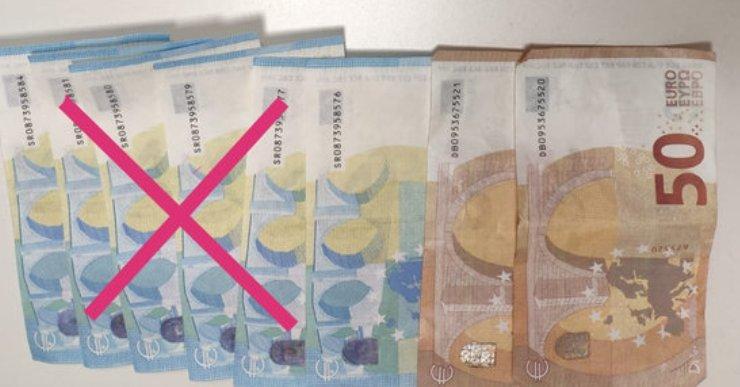 La Policia Local deté tres persones per introduir bitllets falsos als comerços de Lloret