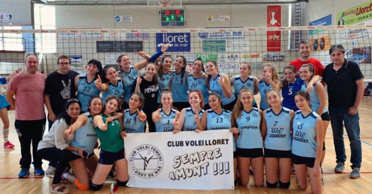 El juvenil i el cadet del Club Voleibol Lloret aconsegueixen la permanència a Primera Divisió