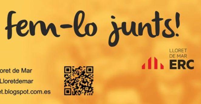 ERC inicia aquest dissabte la campanya 'Lloret, fem-lo junts'