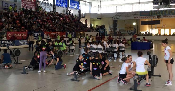 450 alumnes participen a l'onzè campionat de rem ergòmetre