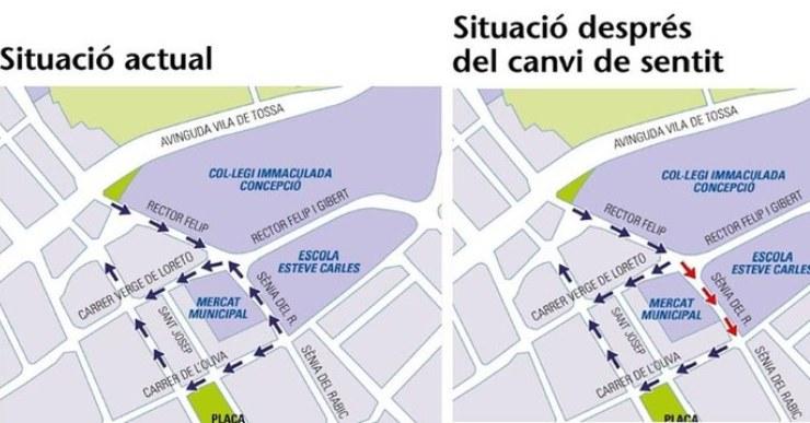 L'Ajuntament canvia de sentit un tram del carrer Sènia del Rabic