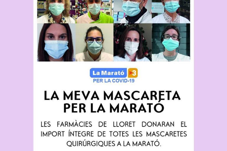 13 farmàcies de Lloret s'uneixen per recaptar diners per a la Marató de TV3
