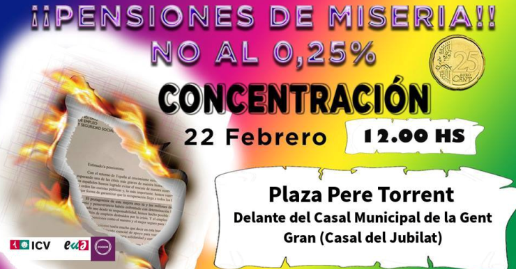 ICV – EUiA i Podem de Lloret se sumen a una mobilització en defensa de les pensions
