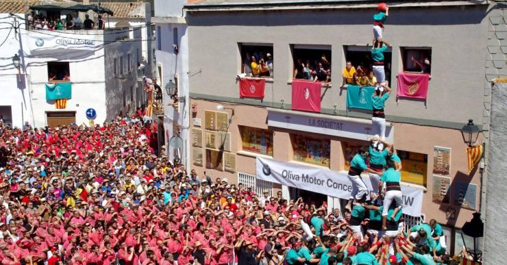 El lloretenc Toni Bach és el cap de colla dels Castellers de Vilafranca