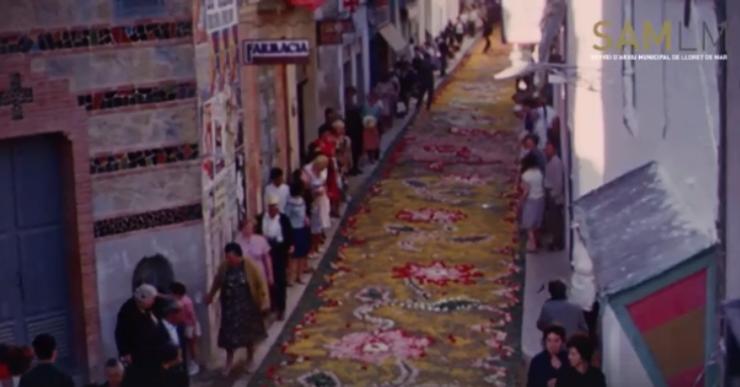 La parròquia i els geganters recuperen la tradició de Corpus a Lloret de Mar