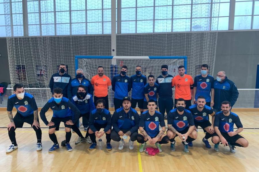 El primer equip abans del partit (Club Futbol Sala Lloret)