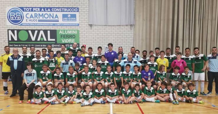 El Club Futbol Sala Lloret comença els entrenaments amb un total de nou equips
