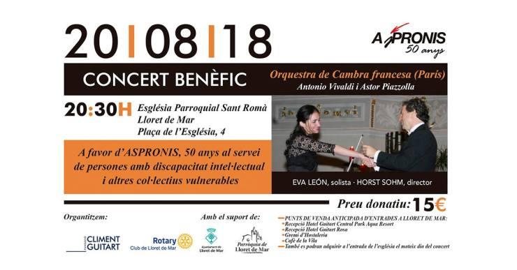 La Fundació Climent Guitart i el Rotary Club organitzen un concert benèfic amb Aspronis