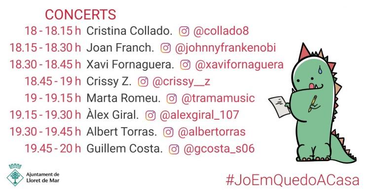 Diferents artistes lloretencs actuaran des de casa a través d'Instagram Live per celebrar Sant Jordi