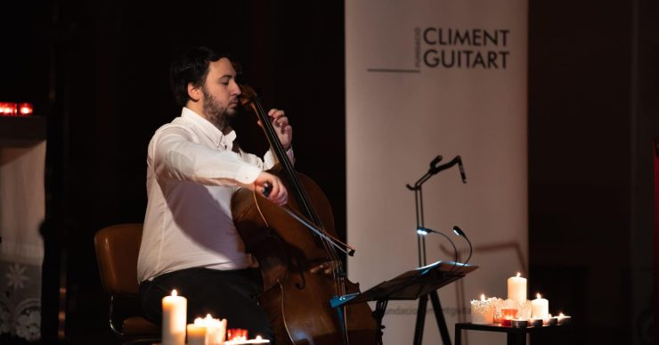 Un duo de violoncel i guitarra al segon concert solidari del Festival de Guitarra del Mediterrani