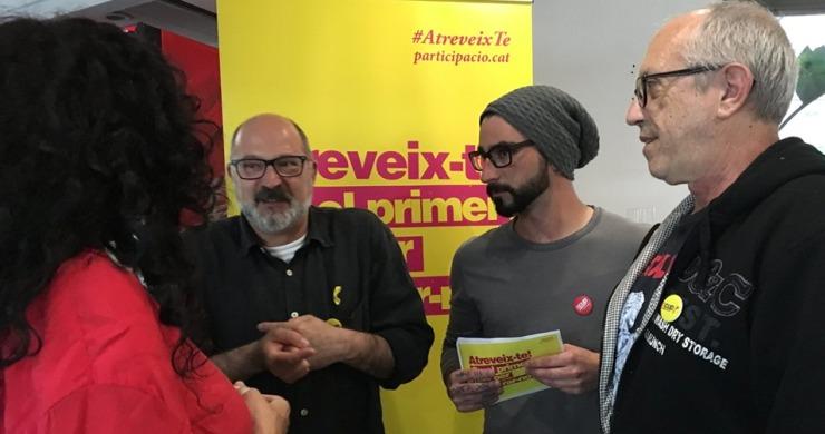 La CUP denuncia que no ha pogut fer l'acte central de campanya a la plaça de la Vila