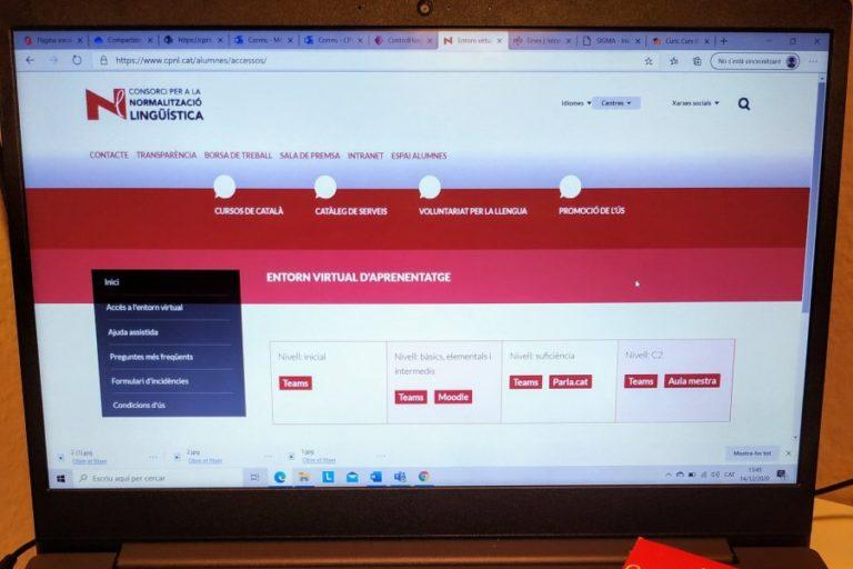 Obertes les inscripcions als cursos de català, que hauran de ser telemàtics