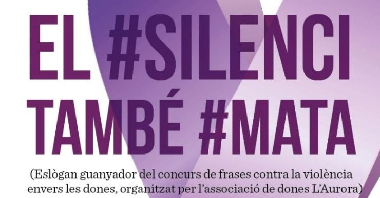 Lloret se suma a la commemoració del 25-N sota el lema 'El #silenci també #mata'