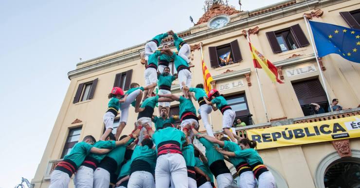 Els Castellers de Vilafranca, els Marrecs de Salt i els Maduixots de l'Alt Maresme, a la segona Diada