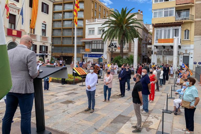 La crisi del Coronavirus i la reivindicació dels drets de Catalunya centren el discurs de l'alcalde aquesta Diada