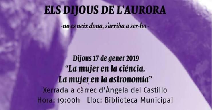 L'Aurora convida l'astronoma Àngela Del Castillo per parlar de la dona en el món de la ciència i l'astronomia