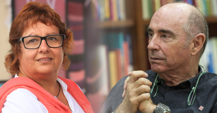 Lluís Llach, Dolors Bassa i Jordi Orobitg, a la trobada a Lloret de 'Piulades a la fresca'