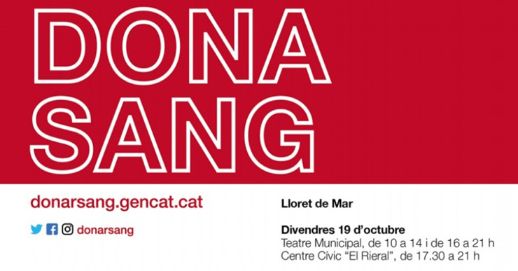 Jornada de donació de sang, aquest divendres a Lloret, per augmentar les reserves