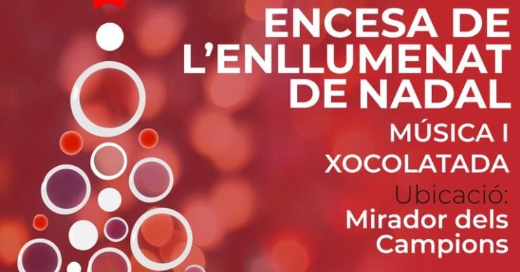 L'encesa oficials dels llums de Nadal de Lloret aquest any es farà al Mirador dels Campions