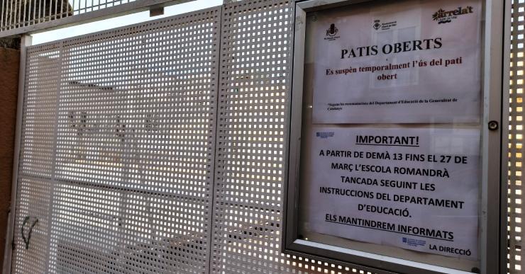 Escoles, instituts i llars d'infants, públiques i privades, tancades per prevenir el contagi del coronavirus