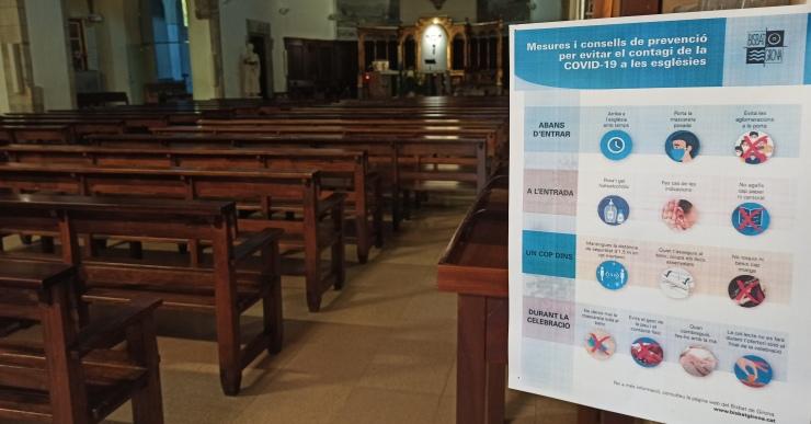 L'església ja pot acollir el 75% del seu aforament
