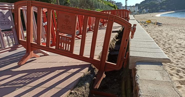 La Generalitat destinarà 223.000 euros a reparar els desperfectes del Glòria al passeig de Fenals