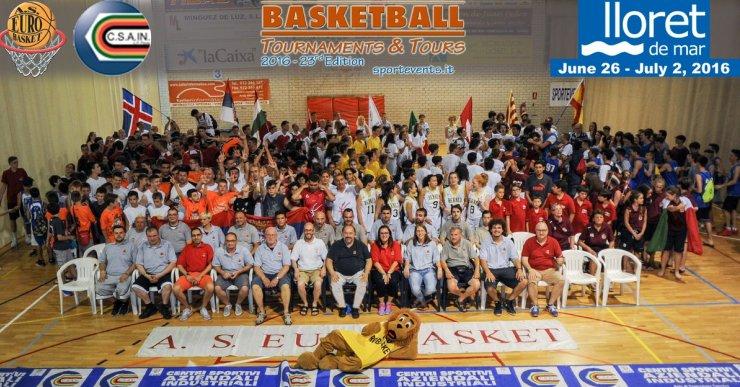 L'Eurobasket ja suma 24 anys portant equips de tot Europa a Lloret