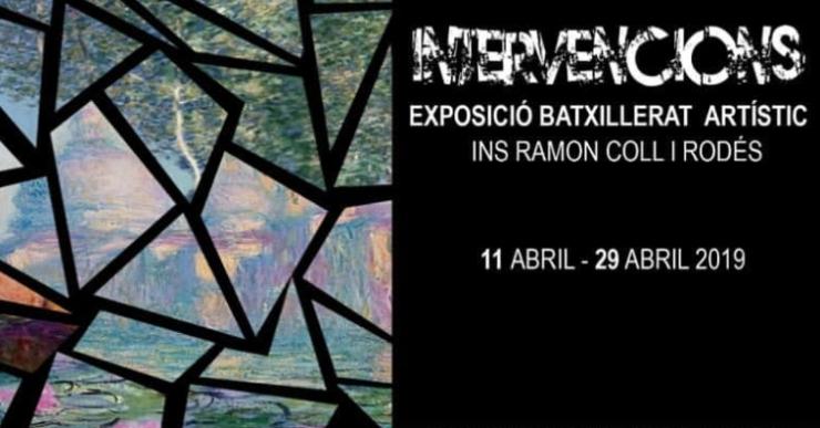L'exposició 'Intervencions' mostra els treballs del Batxillerat Artístc del Coll i Rodés